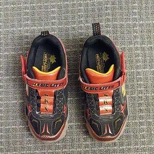 Boys Super Hot lites Sneakers. Size 12.5